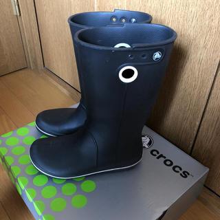 クロックス(crocs)のcrocsクロックスのレインシューズ☆24.0(レインブーツ/長靴)