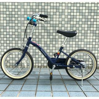 アサヒ(アサヒ)のあさひ 子供用自転車 16インチ 専用補助輪付き インディゴブルー(自転車)