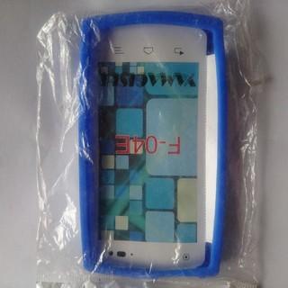 エヌティティドコモ(NTTdocomo)のF-04E シリコンケース ブルー(Androidケース)