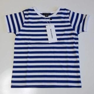 マリメッコ(marimekko)の新品 marimekko キッズ半袖Tシャツ ボーダー 4Y マリメッコ(Tシャツ/カットソー)