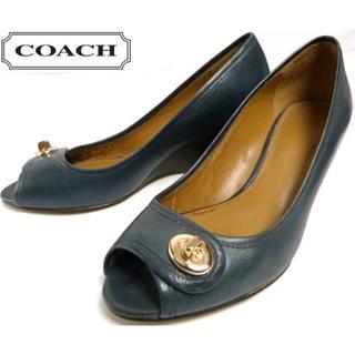 コーチ(COACH)の【訳あり】COACH コーチ レザーパンプス/ヒール 35.5(22.5cm)(ハイヒール/パンプス)