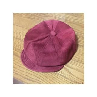 マウジー(moussy)のmoussy 豚革 キャスケット(ハンチング/ベレー帽)