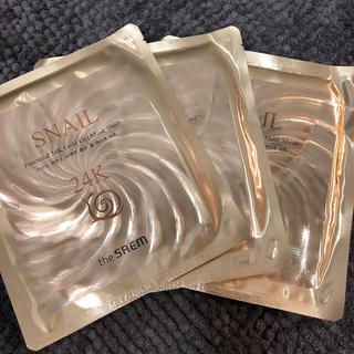 ザセム(the saem)のThe Seam SNAIL 24K gold gel mask(パック/フェイスマスク)