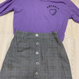 ピンクラテ(PINK-latte)のTシャツ&台形スカート(Tシャツ(長袖/七分))