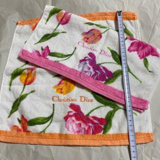 クリスチャンディオール(Christian Dior)のハンドタオル Christian Dior 二枚(タオル/バス用品)