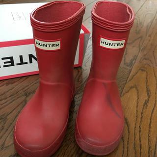 ハンター(HUNTER)のHANTER ハンター レインブーツ 長靴 14cm 赤 UK6(長靴/レインシューズ)