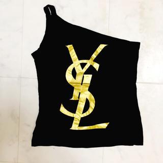 イヴサンローランボーテ(Yves Saint Laurent Beaute)のイヴサンローラン ワンショルダー トップス S(Tシャツ(半袖/袖なし))