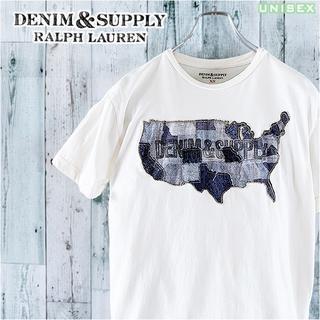 デニムアンドサプライラルフローレン(Denim & Supply Ralph Lauren)のXL相当 ラルフローレン DENIM&SUPPLY 刺繍 半袖 Tシャツ XS(Tシャツ(半袖/袖なし))