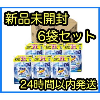 カオウ(花王)の【新品】アタック 抗菌EX スーパークリアジェル 詰替 特大(1.6kg×6袋)(洗剤/柔軟剤)