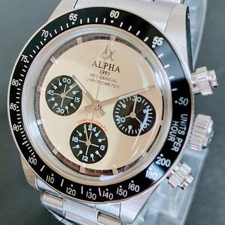 アルファ(alpha)の◆激レア【新品】/アルファ/1993/ポールニューマン/デイトナタイプ/腕時計(腕時計(アナログ))