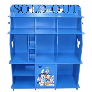ディズニー(Disney)の【引取限定】ディズニー英語システム ブックケース(青)(棚/ラック/タンス)