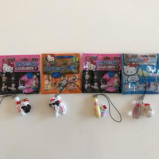 ハローキティ(ハローキティ)のROUND1×Hello Kitty ストラッピン 4個セット(その他)