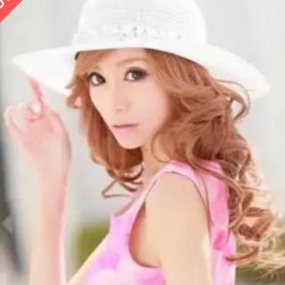 エミリアウィズ(EmiriaWiz)の💖EmiriaWiz エミリアウィズ💖新品未使用帽子ビジューハットホワイト(麦わら帽子/ストローハット)