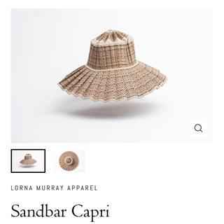 ロンハーマン(Ron Herman)のLorna Murray Sandbar Capri カプリハット 新品未使用(麦わら帽子/ストローハット)