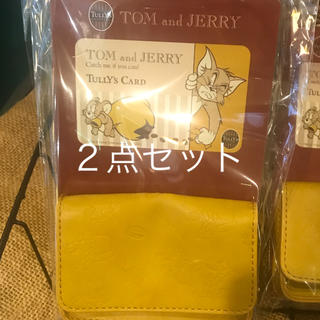 タリーズコーヒー(TULLY'S COFFEE)のTully's Coffee タリーズ トムとジェリー コラボ  カードケース②(名刺入れ/定期入れ)