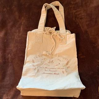 サマンサモスモス(SM2)の未使用品 A3サイズ ランドリーバッグ風トートバッグ 帆布 巾着バッグ(トートバッグ)