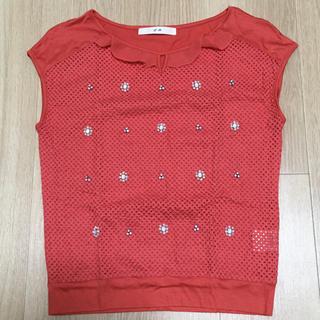 エフデ(ef-de)のef-de' ビジュー付きフレンチスリーブTシャツ(Tシャツ(半袖/袖なし))