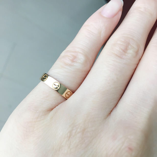 カルティエ(Cartier)のミニラブリングPG♡4号 カルティエ(リング(指輪))