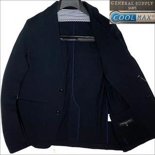 SHIPS - J4029 新品 シップス COOLMAX 鹿の子 サマージャケット ネイビーM