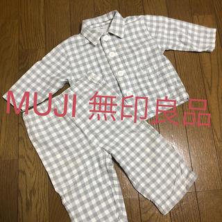 ムジルシリョウヒン(MUJI (無印良品))の無印良品 パジャマ チェック柄 子供用 80センチ (パジャマ)