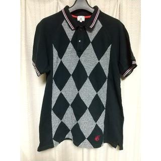 ティーケー(TK)のTK 切り替え 半袖ポロシャツ サイズ3 黒 ブラック ティーケー 鹿の子 中古(ポロシャツ)