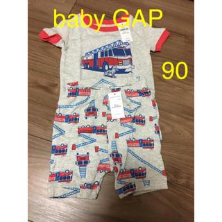 ベビーギャップ(babyGAP)のBaby GAP 90 18-24month パジャマ 半袖 新品 消防車柄(パジャマ)