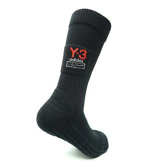 ワイスリー(Y-3)のY3 Mサイズ ワイスリー ロゴ ソックス 靴下 黒 LOGO SOCK(ソックス)