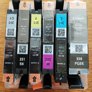 キヤノン(Canon)のキヤノン純正品インクカートリッジ351、350(6色)(その他)