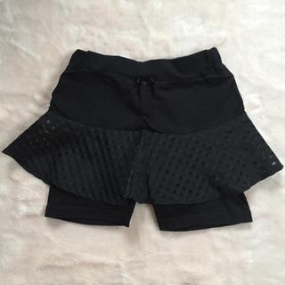 Branshes - ブラック チェック柄 スカッツ 100cm