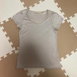 デミルクスビームス(Demi-Luxe BEAMS)のLAPISLUCE BEAMSラピスルーチェビームパールTシャツ カットソー(Tシャツ(半袖/袖なし))