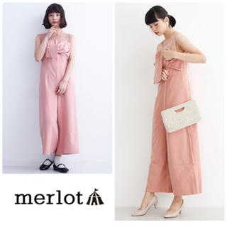 メルロー(merlot)の【新品★未使用】merlot plus リボンビスチェ風オールインワン1197(オールインワン)