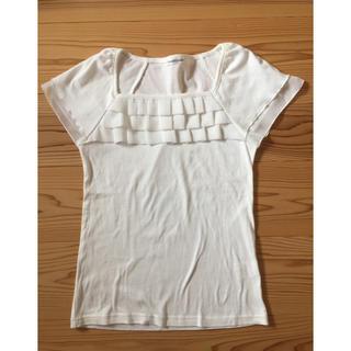 アンナルナ(ANNA LUNA)のホワイト カットソー  M(カットソー(半袖/袖なし))