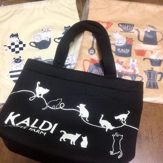 カルディ(KALDI)の【先着1名様限定★新品未使用】2019年2020年 猫の日バッグ&巾着セット(日用品/生活雑貨)