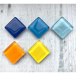 涼しげガラスタイルのマグネット ブルー系 オレンジ系(その他)