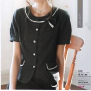Joie (ファッション) - 新品☆事務服13号 オーバーブラウス半袖