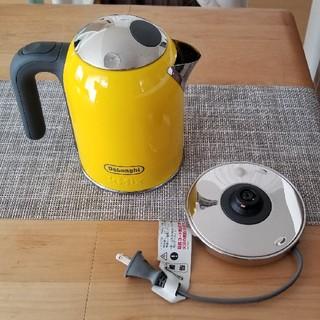 デロンギ(DeLonghi)のデロンギ 電気ケトル イエロー 黄色 SJM010J-YW(電気ケトル)