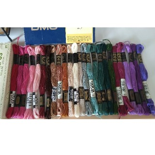 オリンパス(OLYMPUS)の刺繍糸セット③ コスモ DMC(生地/糸)