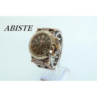 アビステ(ABISTE)の【W-447】電池交換済 ABISTE アビステ クロノグラフ 腕時計 メンズ(腕時計(アナログ))