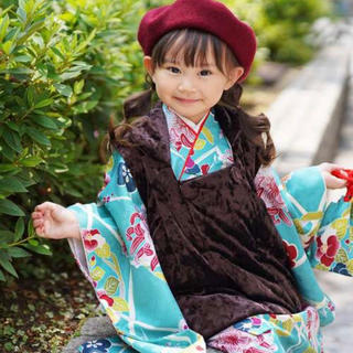 [ミント]七五三 女の子 着物 三歳用被布コート9点セット(和服/着物)