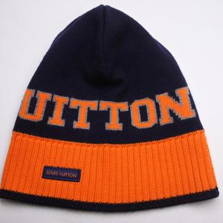 ルイヴィトン(LOUIS VUITTON)のLOUIS VUITTON ルイヴィトン ニット帽 ボネ ルイ ネイビー 正規(ニット帽/ビーニー)