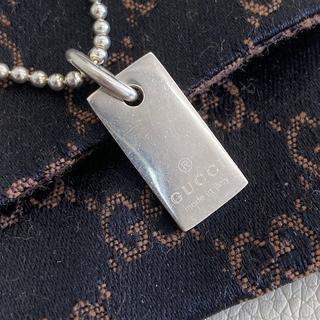 グッチ(Gucci)の【K771】GUCCI ロゴ プレート ブレスレット シルバー(ブレスレット)