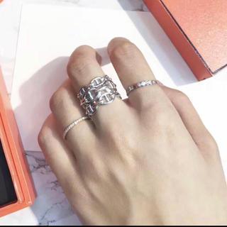 シャネル(CHANEL)の指輪 シルバー 三連 リング S925(リング(指輪))