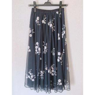 ココディール(COCO DEAL)のcocodeal  花柄チュールスカート(ロングスカート)
