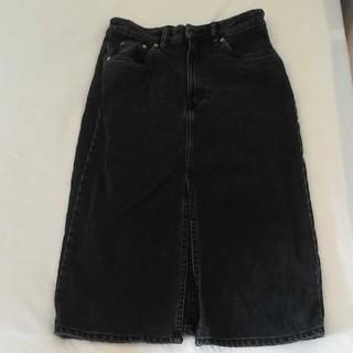 ザラ(ZARA)のsho☆様 ZARA ブラックデニムスカート(ひざ丈スカート)