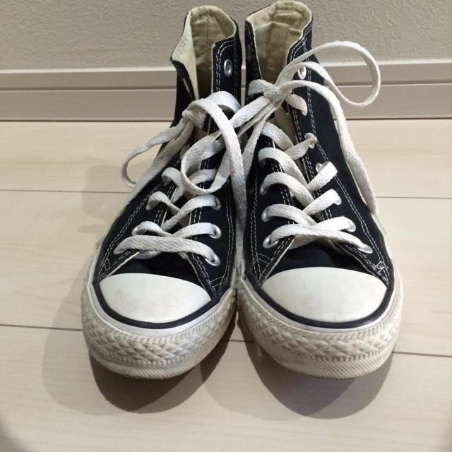 CONVERSE(コンバース)のコンバース★黒ハイカット24.5 レディースの靴/シューズ(スニーカー)の商品写真