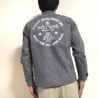 ステューシー(STUSSY)の【完売品】オールドステューシー, 刺繍 ヒッコリー シャツ(カバーオール)