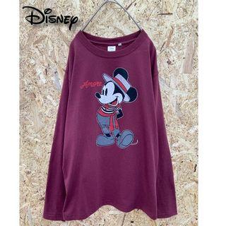 ディズニー(Disney)の【値下げ7月7日】Disney ミッキーマウス Tシャツ ロンT(Tシャツ/カットソー(七分/長袖))