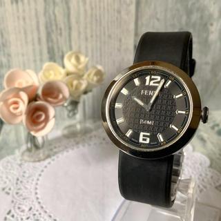 フェンディ(FENDI)の【電池交換済み】FENDI フェンディ 腕時計 8010G  ブラック シルバー(腕時計(アナログ))