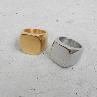 ゴールド スクエアリング (リング(指輪))