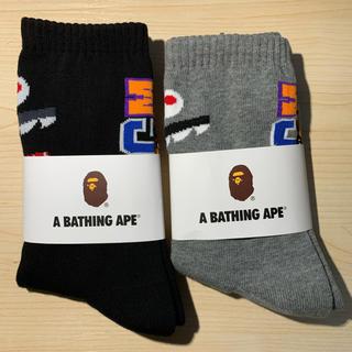 アベイシングエイプ(A BATHING APE)のA BATHING APE アベイシングエイプソックス   2足 セット正規新品(ソックス)